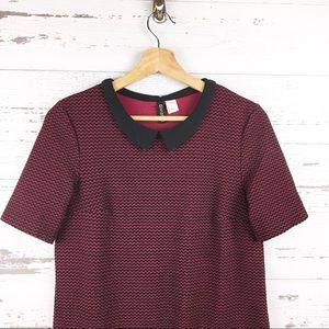 H&M Dresses - H&M 90s Style Mini Shift Dress Peter Pan Collar